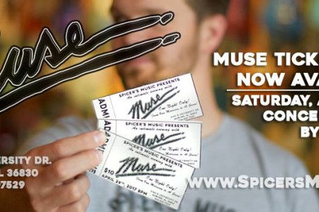 MUSE at Spicer's on April 29!